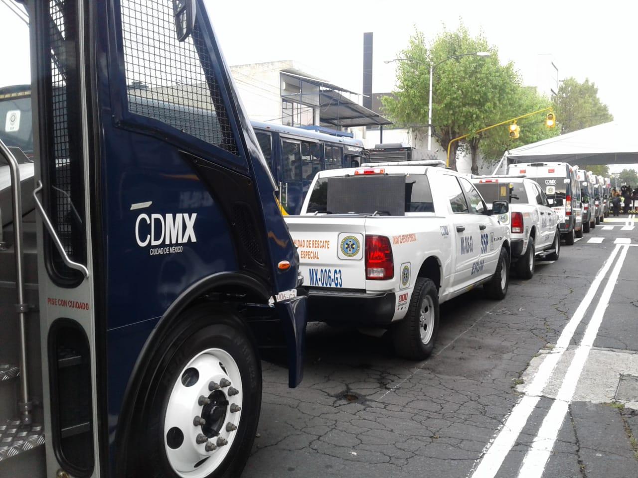GCDMX entrega equipo nuevo a la SSP y ERUM