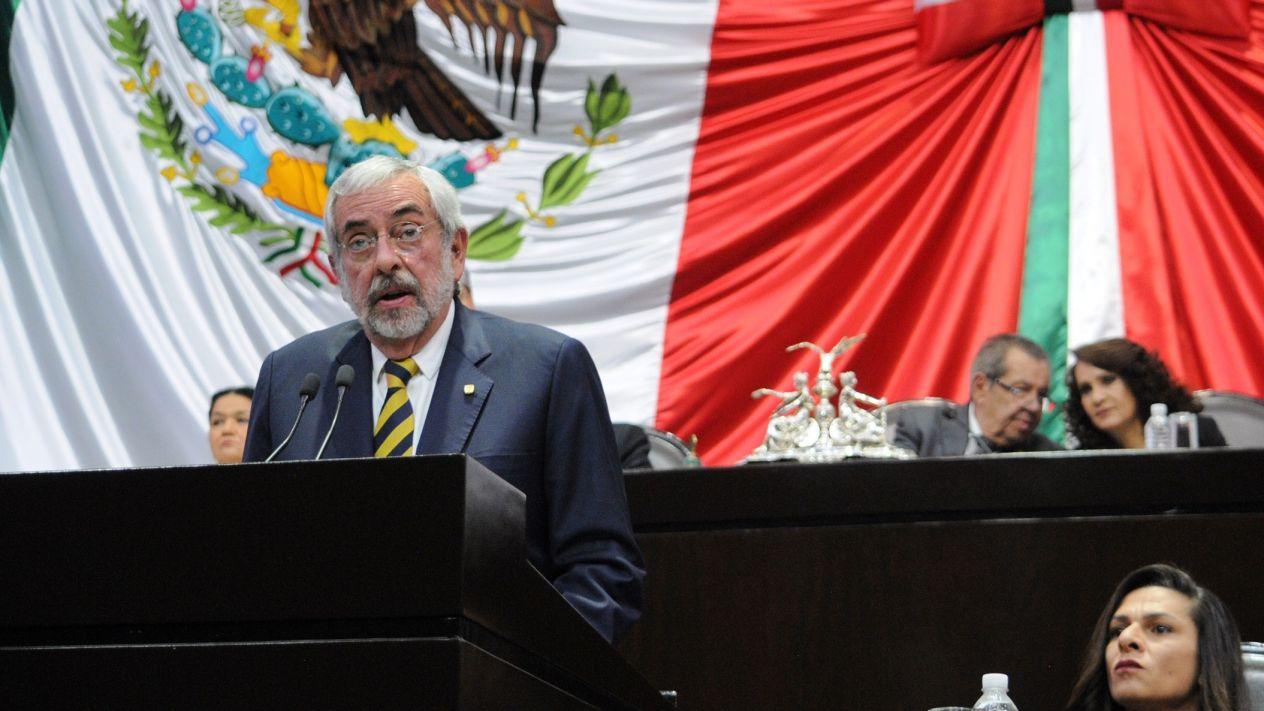 México no está exento de crímenes: Graue en San Lázaro