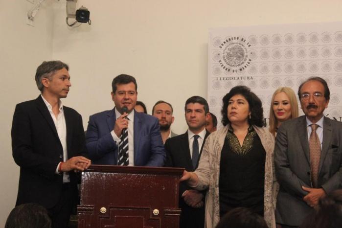 Promulga José Ramón Amieva Decreto para reasignar recursos a Reconstrucción