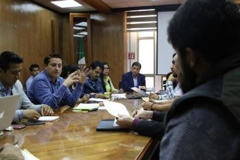 Néstor Núñez López encabeza mesa de trabajo con comités de la colonia Centro