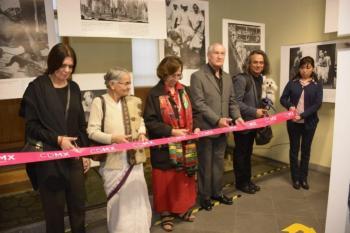 Exhibe Autoridad del Centro Histórico vida de Mahatma Gandhi con muestra fotográfica