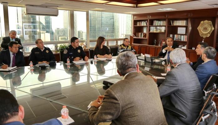 Acuerdan reuniones Raymundo Collins y Manuel Negrete por la seguridad de Coyoacán