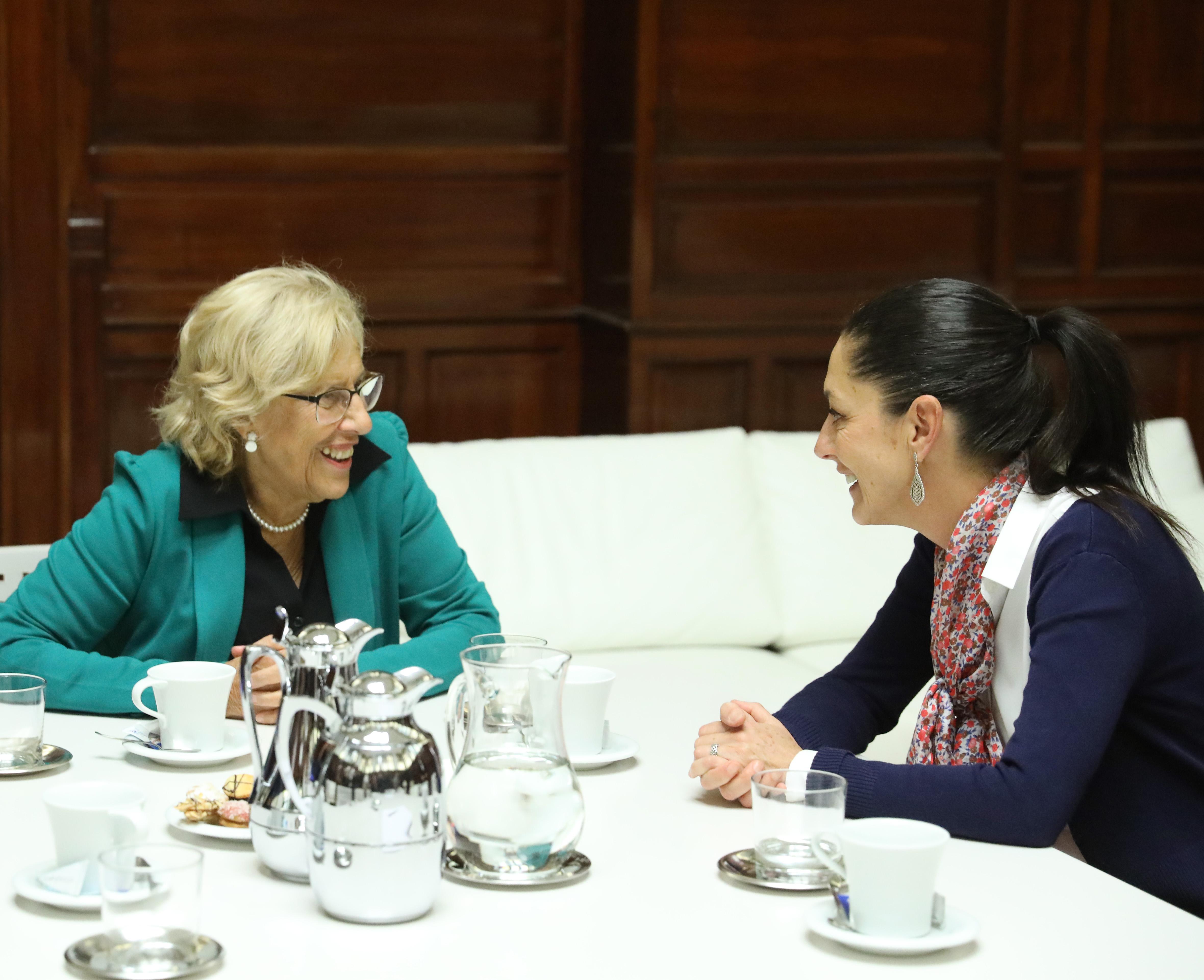 SHEINBAUM SE REÚNE CON ALCALDESA DE MADRID