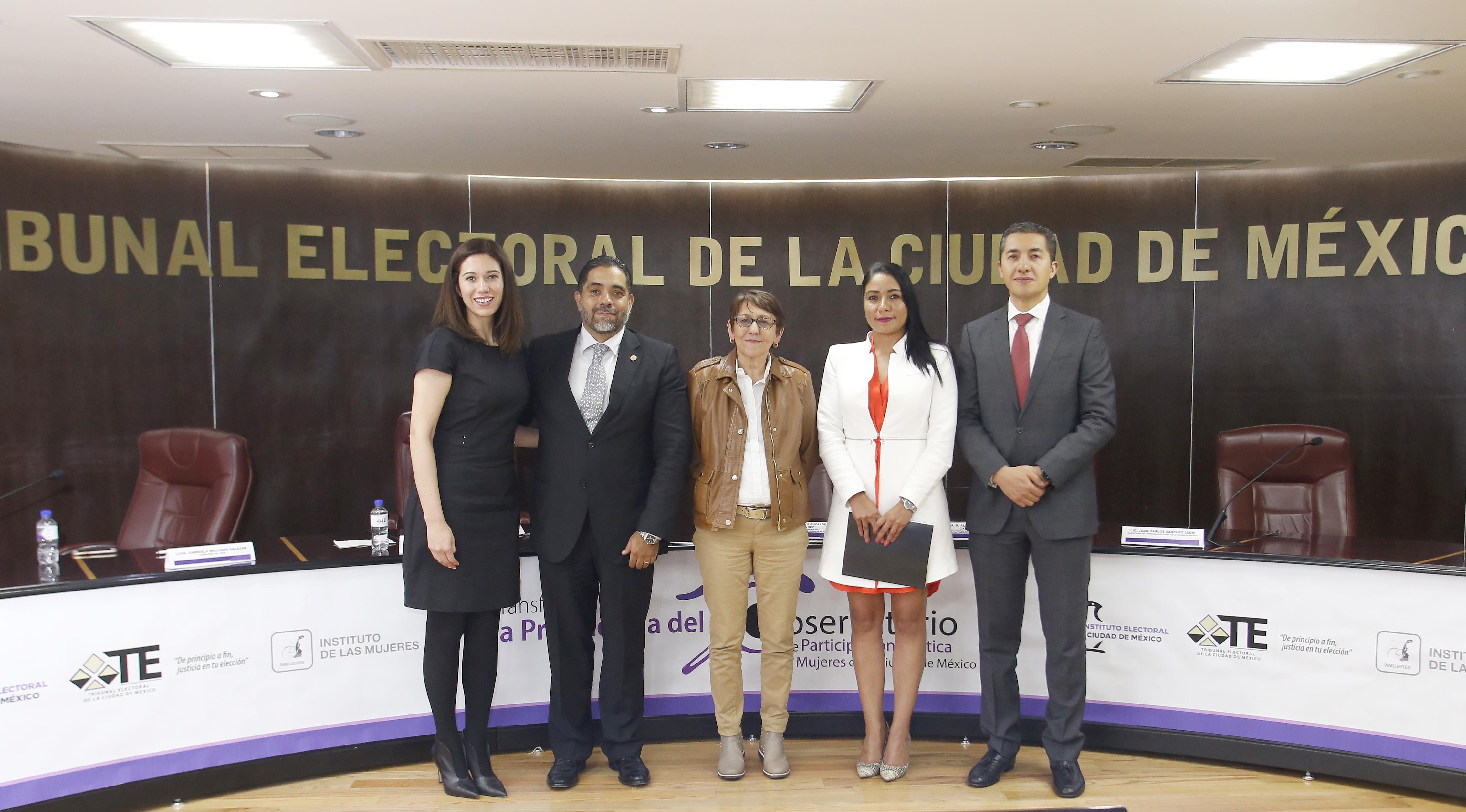 Recibe TECDMX, Presidencia del Observatorio de Participación Política de las Mujeres de la Ciudad de México