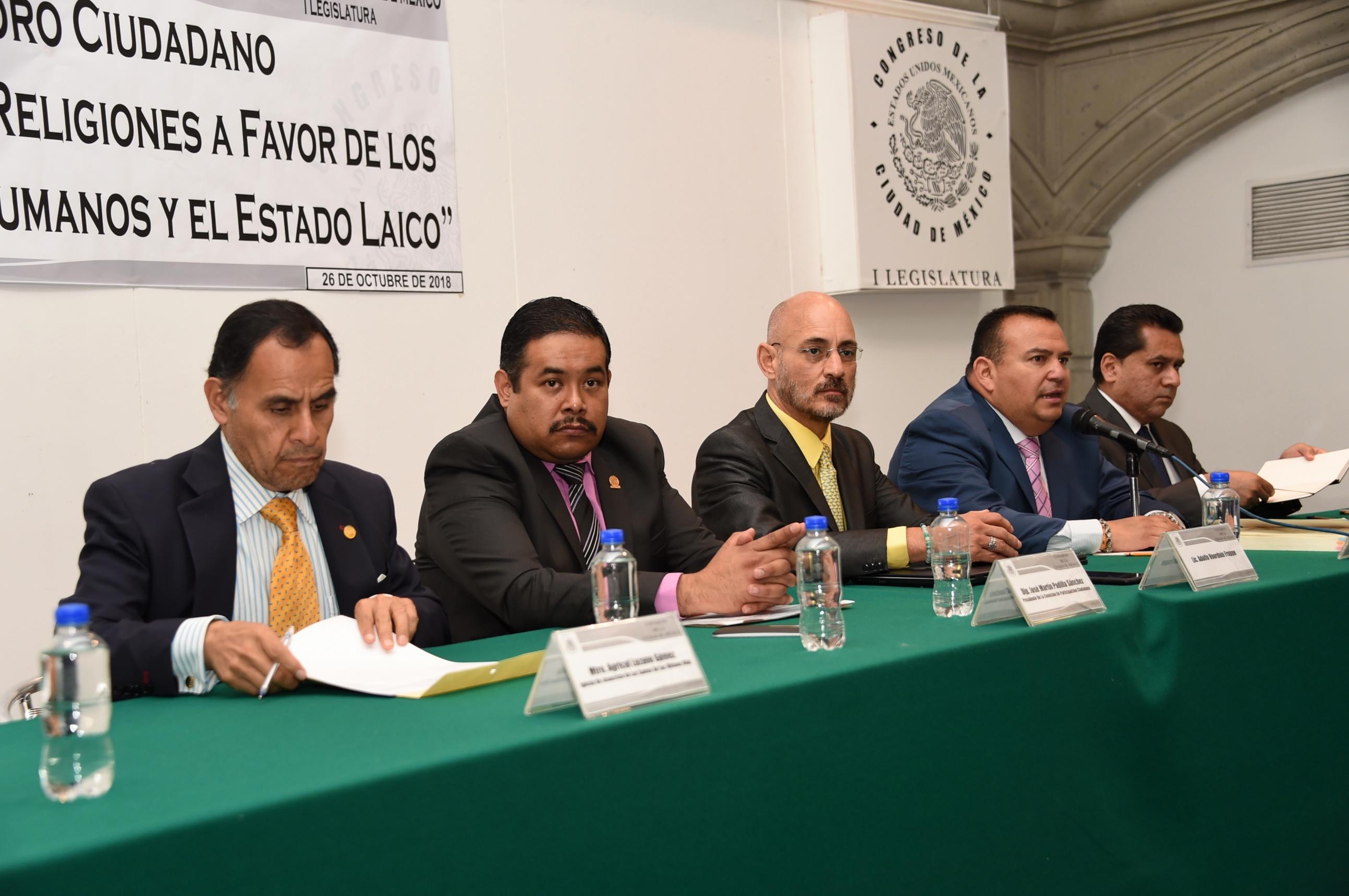 REFRENDA CONGRESO DE LA CDMX RESPETO A LA LIBERTAD DE CREENCIAS RELIGIOSAS Y DERECHOS HUMANOS