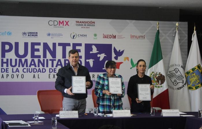 Avanzan Brigadas CDMX Puente Humanitario, Apoyo al Éxodo Migrante