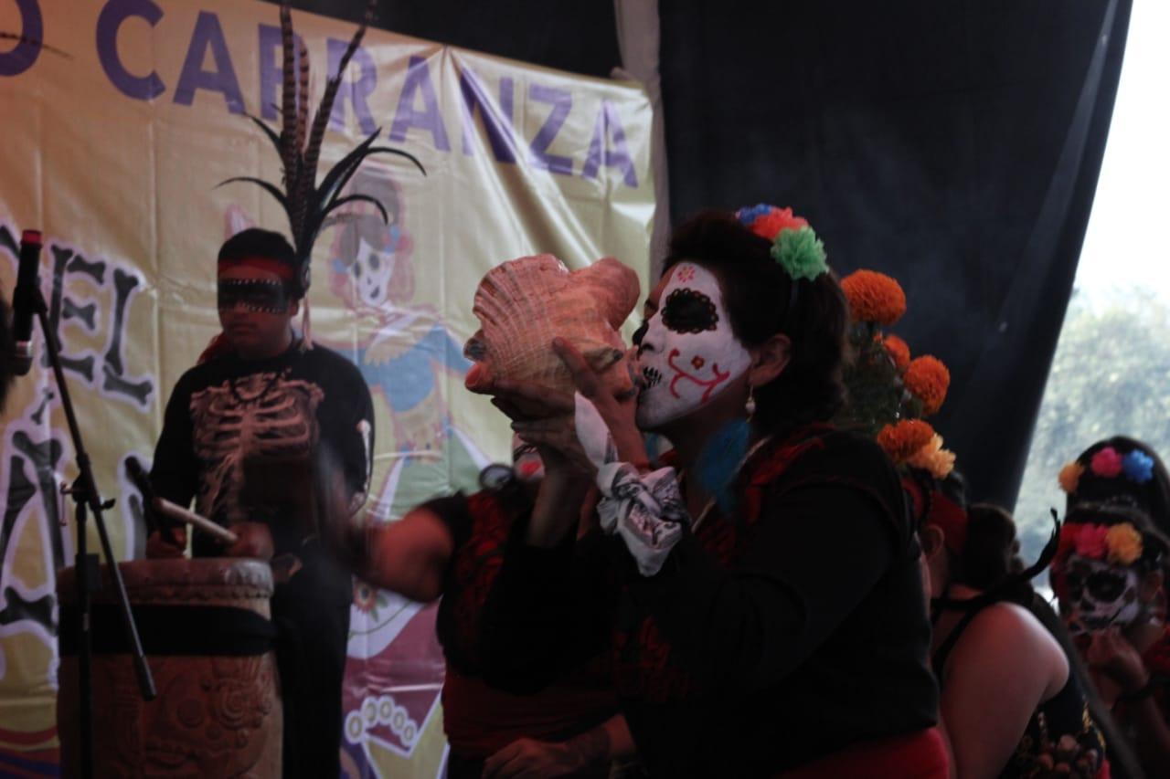 Celebran días de muertos con Ruta del Mictlán en Venustiano Carranza