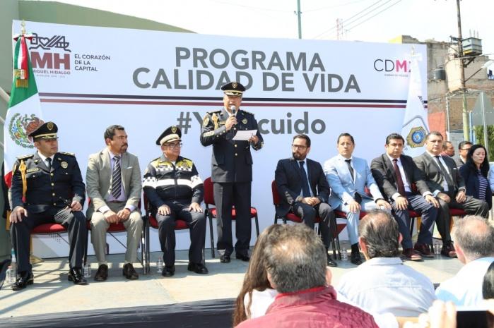 Abanderan titular de SSP-CDMX y alcalde en Miguel Hidalgo nueva estrategia del programa Calidad de Vida