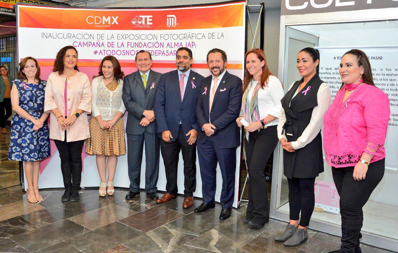 Inaugura TECDMX exposición fotográfica #ATodosNosPuedePasar en el Metro, en coordinación con diversas instituciones y fundaciones