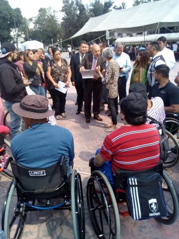 """Alcaldía Iztacalco manifiesta su apoyo a las personas con discapacidad para una mejor """"vida independiente""""."""