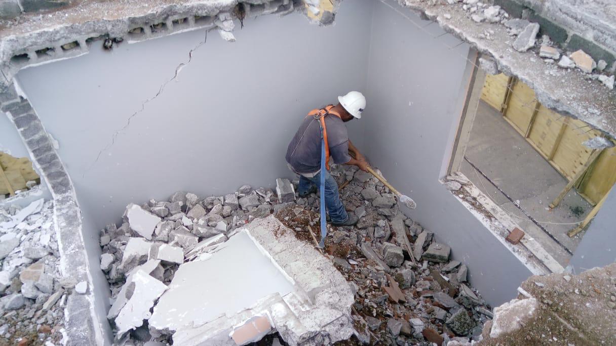 Concluye demolición de inmueble en Coyoacán