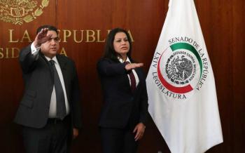 Martí Batres toma protesta a senadores suplentes de Angélica García Arrieta y Rafael Moreno Valle
