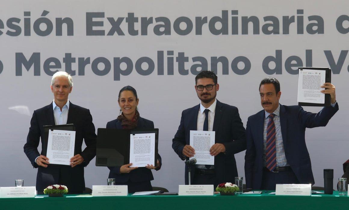 CDMX, EdoMex e Hidalgo firman convenio de colaboración