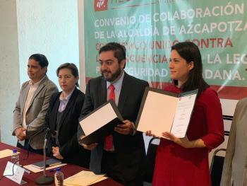 Alcaldía de Azcapotzalco y México Unido Contra la Delincuencia firman convenio para reforzar la seguridad ciudadana