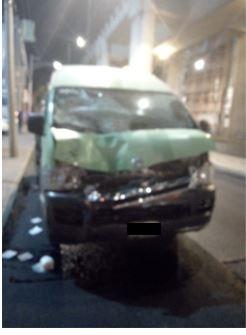 Conductor de transporte público detenido por policías de la SSC tras atropellar a un ciclista