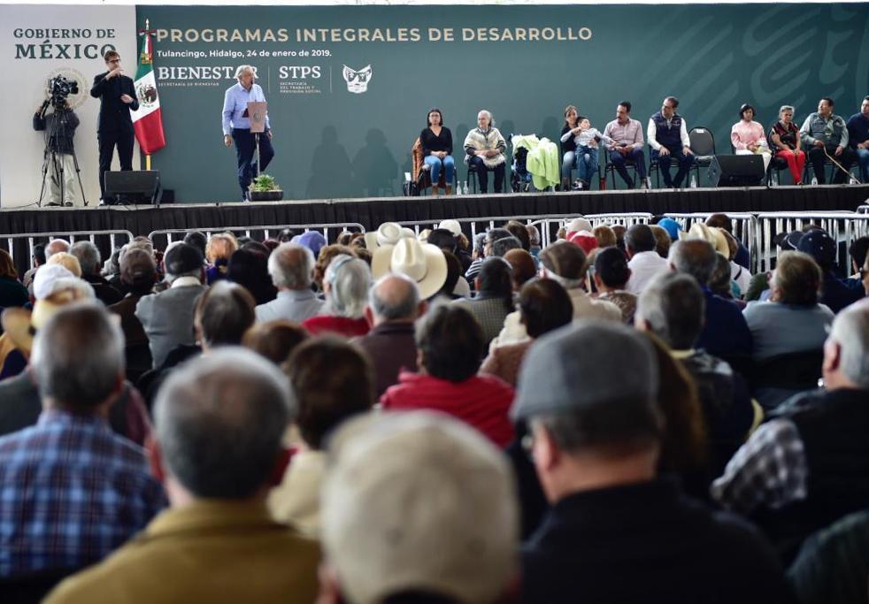 Beneficiarios de los programas sociales, adultos mayores, personas con discapacidad, jóvenes y campesinos.