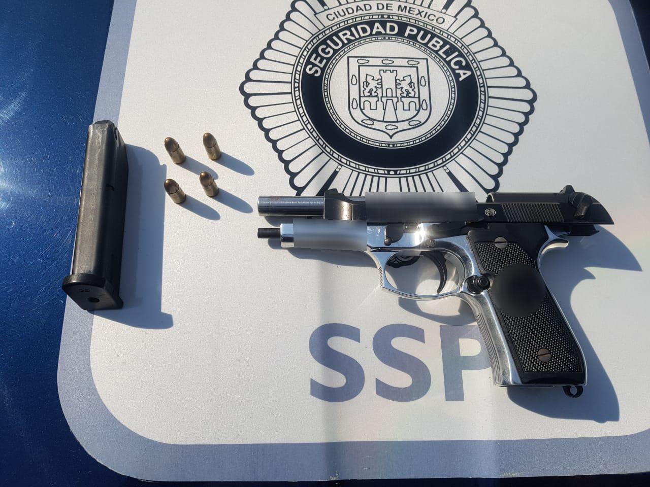 Recupera SSC 166 armas de fuego usadas en la Comisión de Delitos en enero
