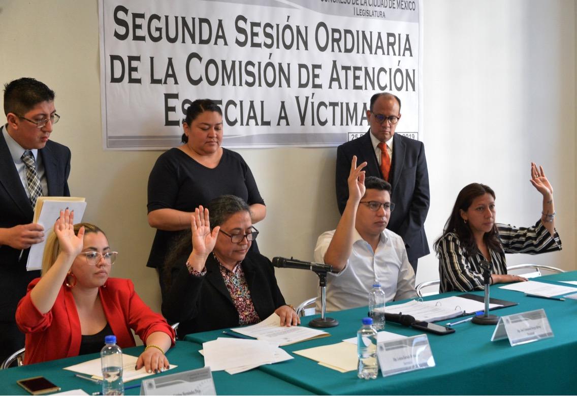 Diputados destacan avances en la designación del titular de la Comisión de Atención a Víctimas de la CDMX