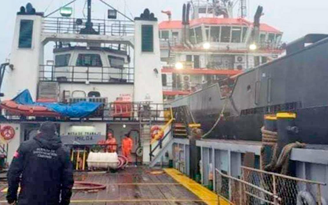 En Tabasco, Semar asegura dos buques con huachicol