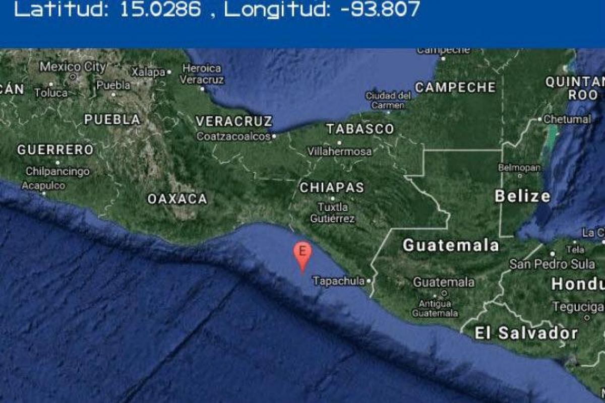 Sismo en Chiapas se registra en El Salvador, Guatemala y Belice