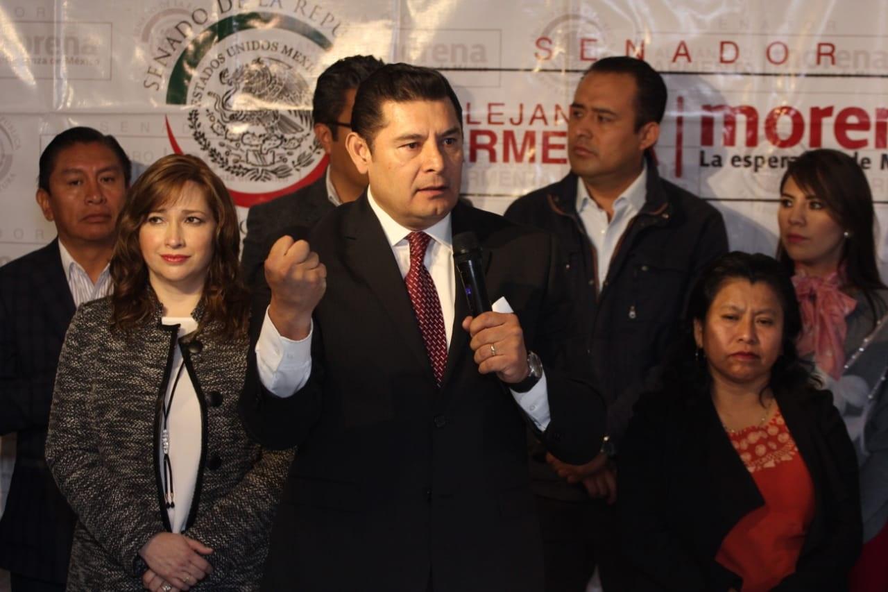 Apoyan Senadores a Armenta para candidato a gobernador de Puebla