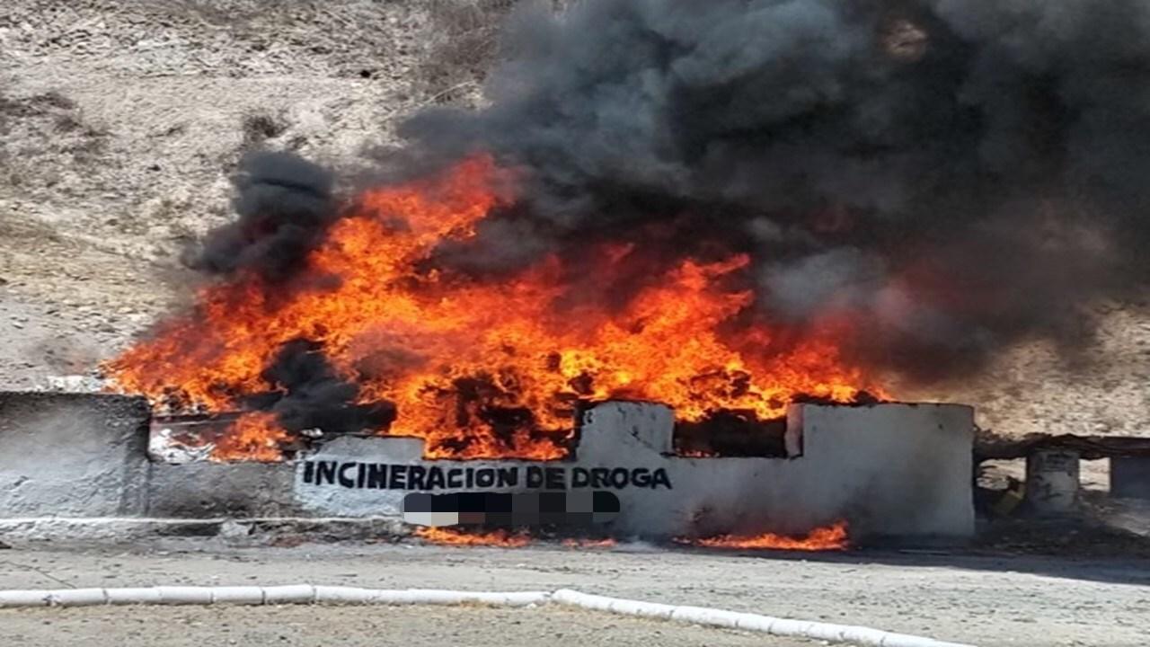 Incineran tres toneladas de narcóticos en Nuevo León