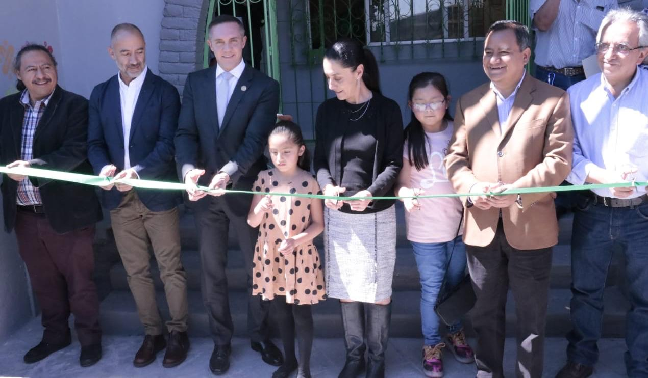 Adrián Rubalcava y Claudia Sheinbaum inauguran el Programa Pilares en Cuajimalpa