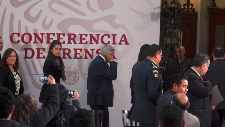 Falsa alarma en Palacio Nacional