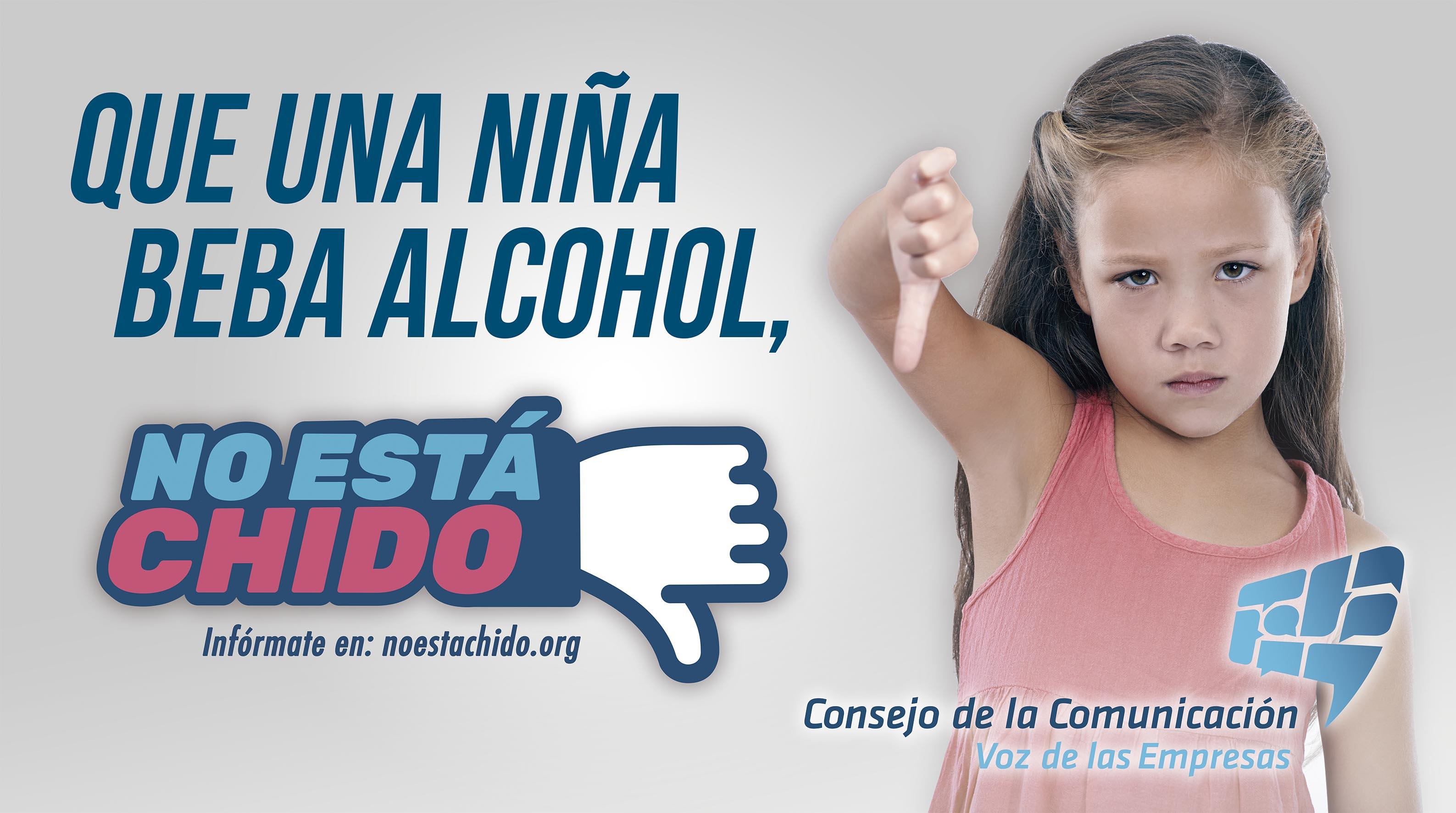 No está chido, Tolerancia cero en consumo de alcohol y tabaco en niñas, niños y adolescentes