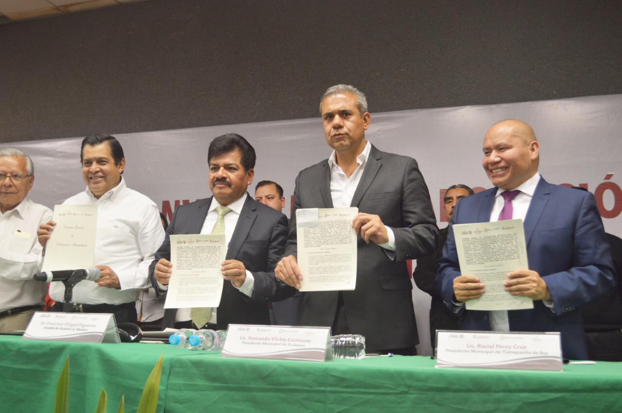 Gustavo A. Madero, Ecatepec de Morelos, Nezahualcóyotl y Tlalnepantla de Baz firman convenio de colaboración Metropolitana