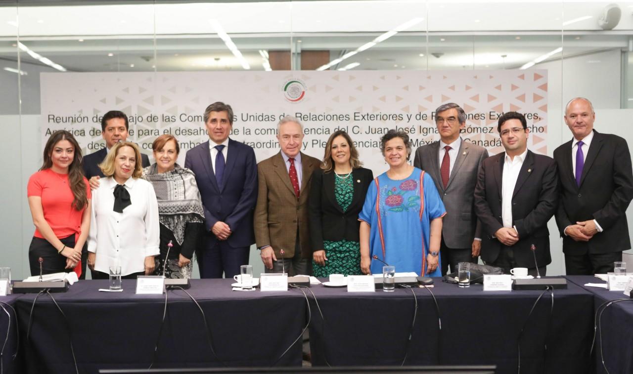 Ratifican en comisiones a Juan José Ignacio Gómez Camacho, como embajador de México en Canadá
