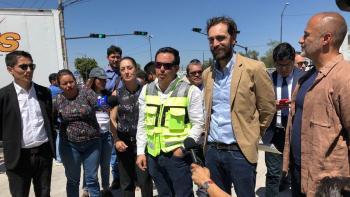 Supervisa Jefa de Gobierno los trabajos en intersecciones peatonales de Iztapalapa y Venustiano Carranza