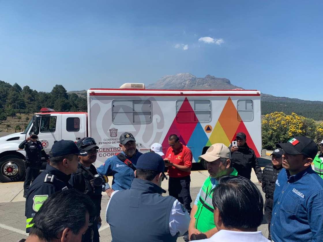 Realizan diagnóstico de rutas de evacuación del Popocatépetl