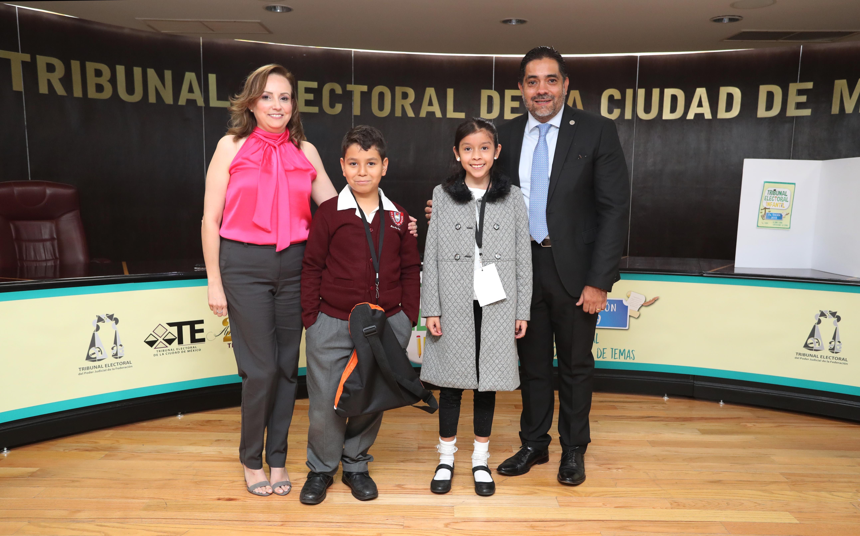 Exponen niñas y niños capitalinos en el TECDMX temas sobre migración y derechos humanos