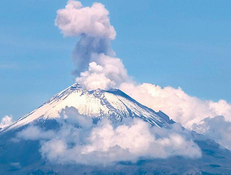 Continúa alerta amarilla por Popocatépetl