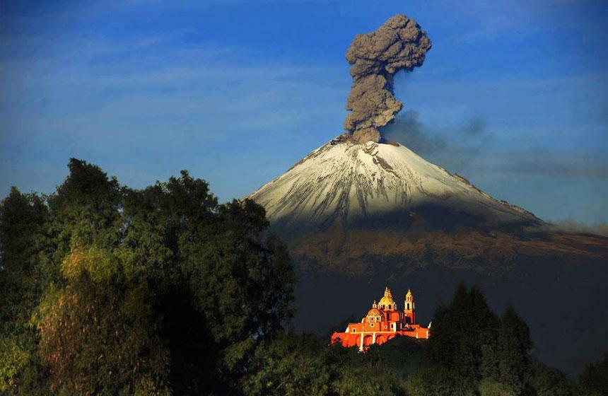Continúa Alerta Amarilla Fase 3, por actividad del Volcán Popocatépetl