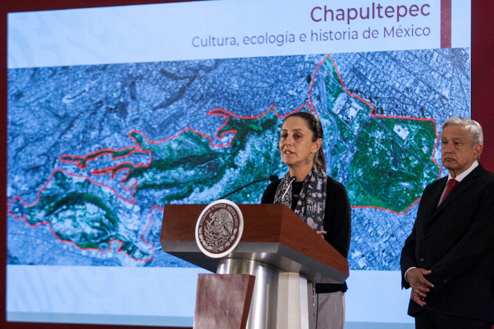 Presentan la Jefa de Gobierno y el Presidente de México, el Proyecto Cultural en el Bosque de Chapultepec