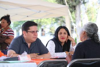 Realiza audiencia pública individual Octavio Rivero en la explanada de alcaldía de Milpa Alta