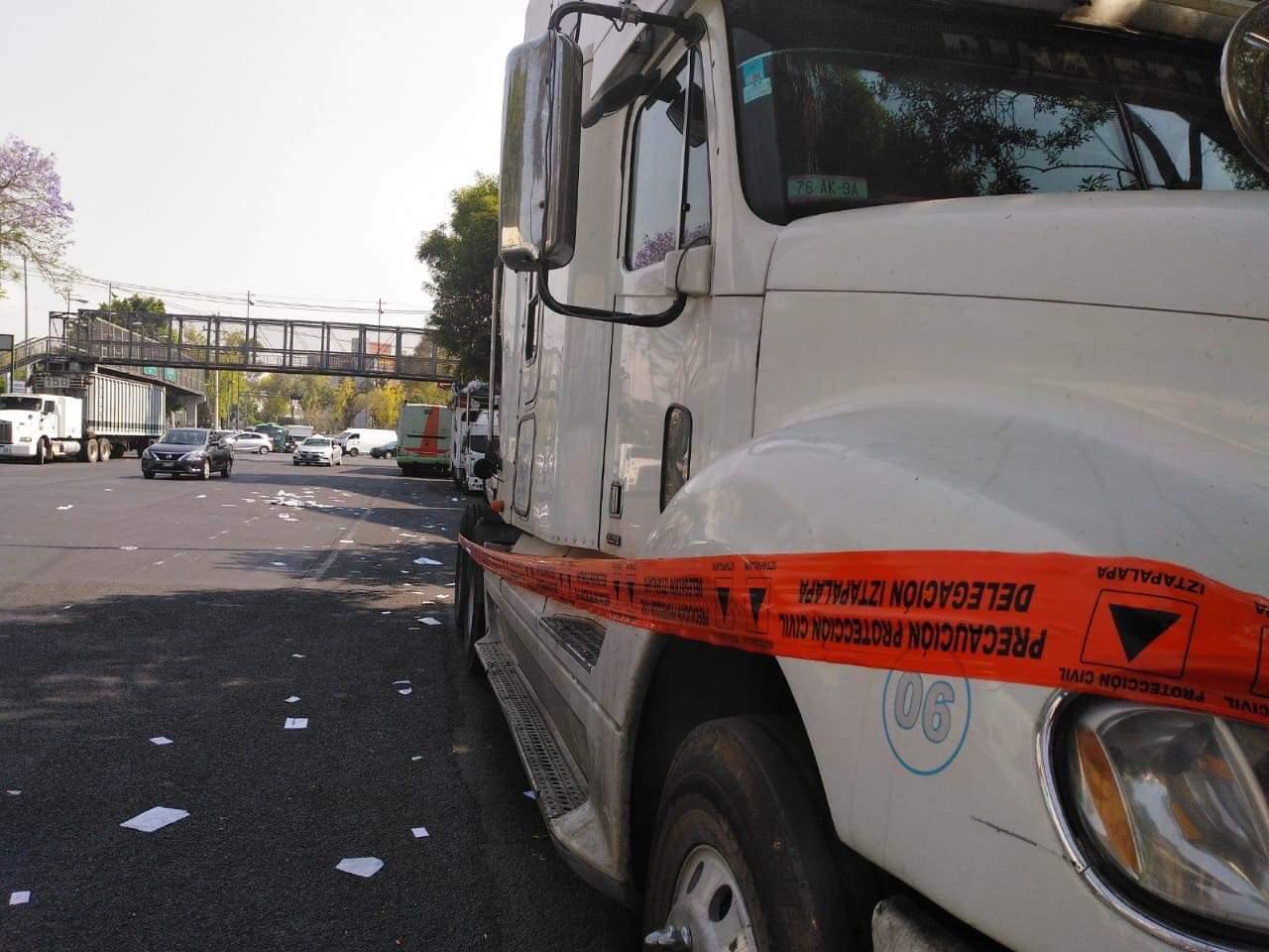 Elementos de la PA de la SCC aseguraron un vehículo de carga que fue robado en calles de la Alcaldía Cuauhtémoc