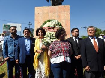 Aceves Pastrana conmemora el paso de Zapata por Tlalpan