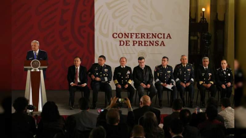 AMLO presenta a los integrantes de la Guardia Nacional
