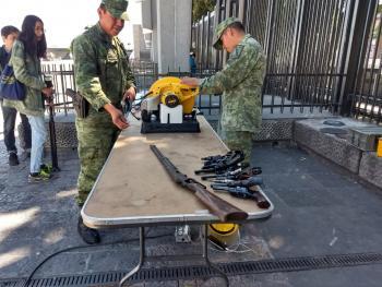 Gobierno de la Ciudad de México recupera Mil 728 Armas de Fuego