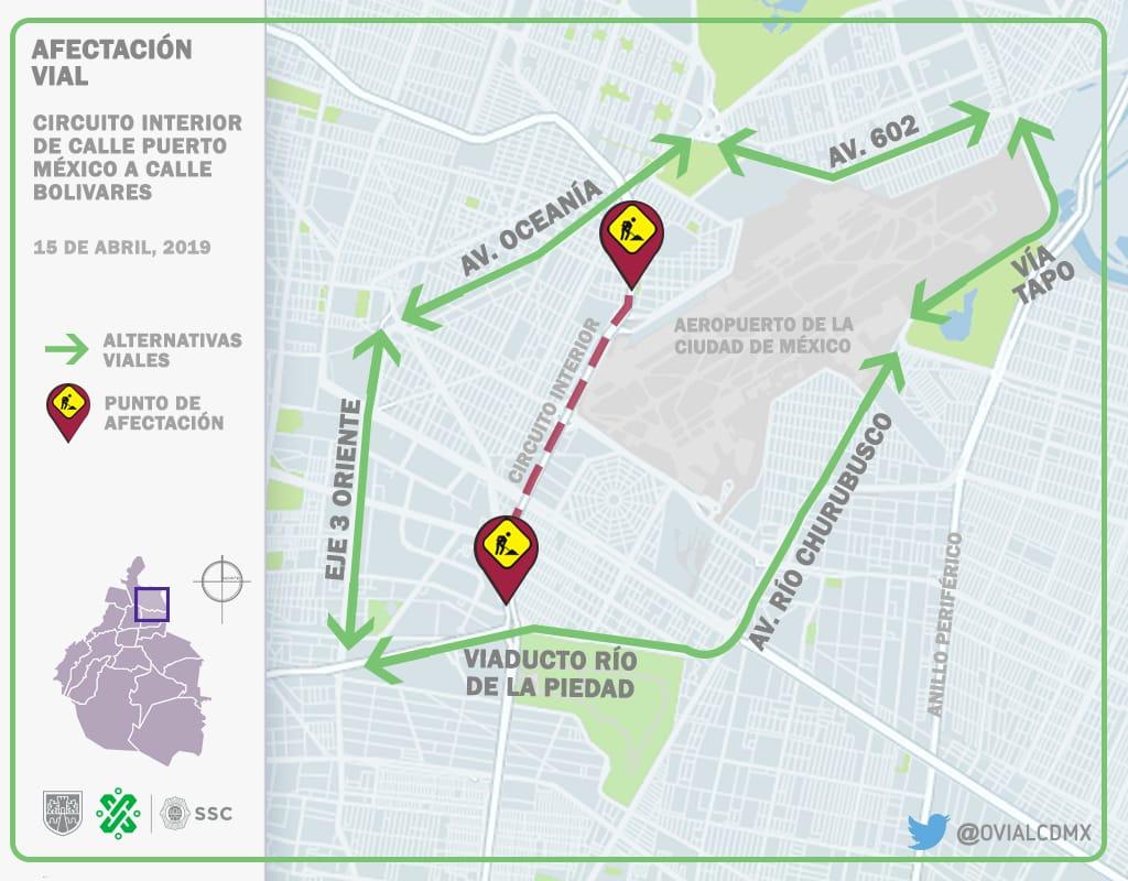 SSC implementa Dispositivo de Vialidad sobre Circuito Vicentenario por Obras de Pavimentación