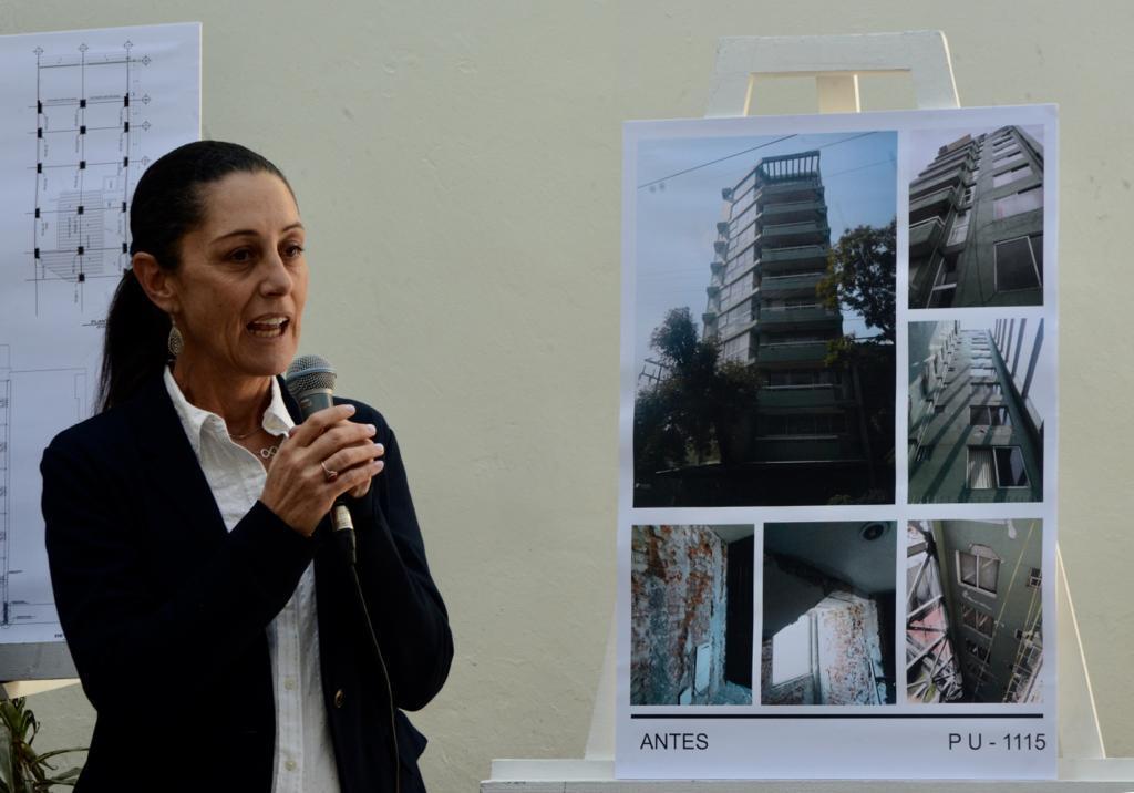 Entregan Autoridades capitalinas a damnificados edificio reconstruido en Xochimilco