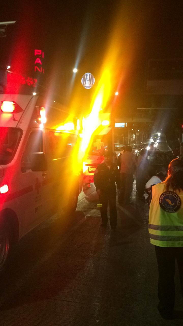 Policías de la SSC brindaron auxilio a un lesionado por atropellamiento en Tlalpan