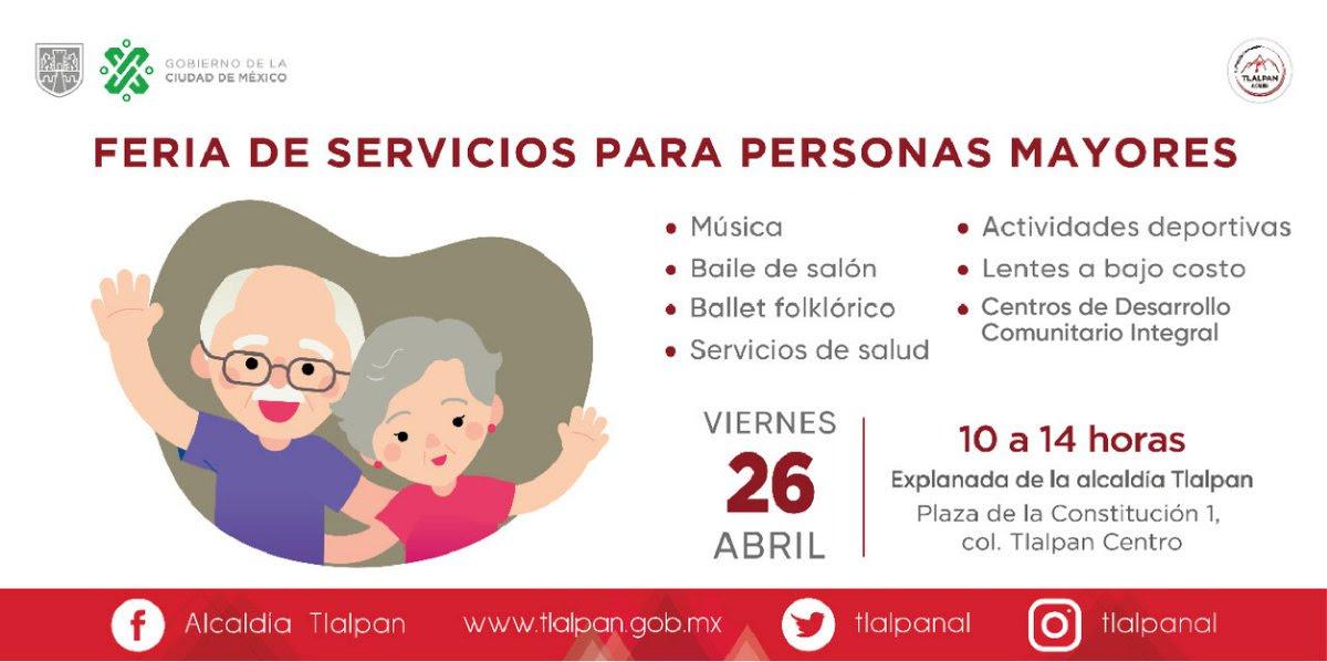 Gobierno de la CDMX y Tlalpan realizarán Feria de Servicios para Personas Mayores