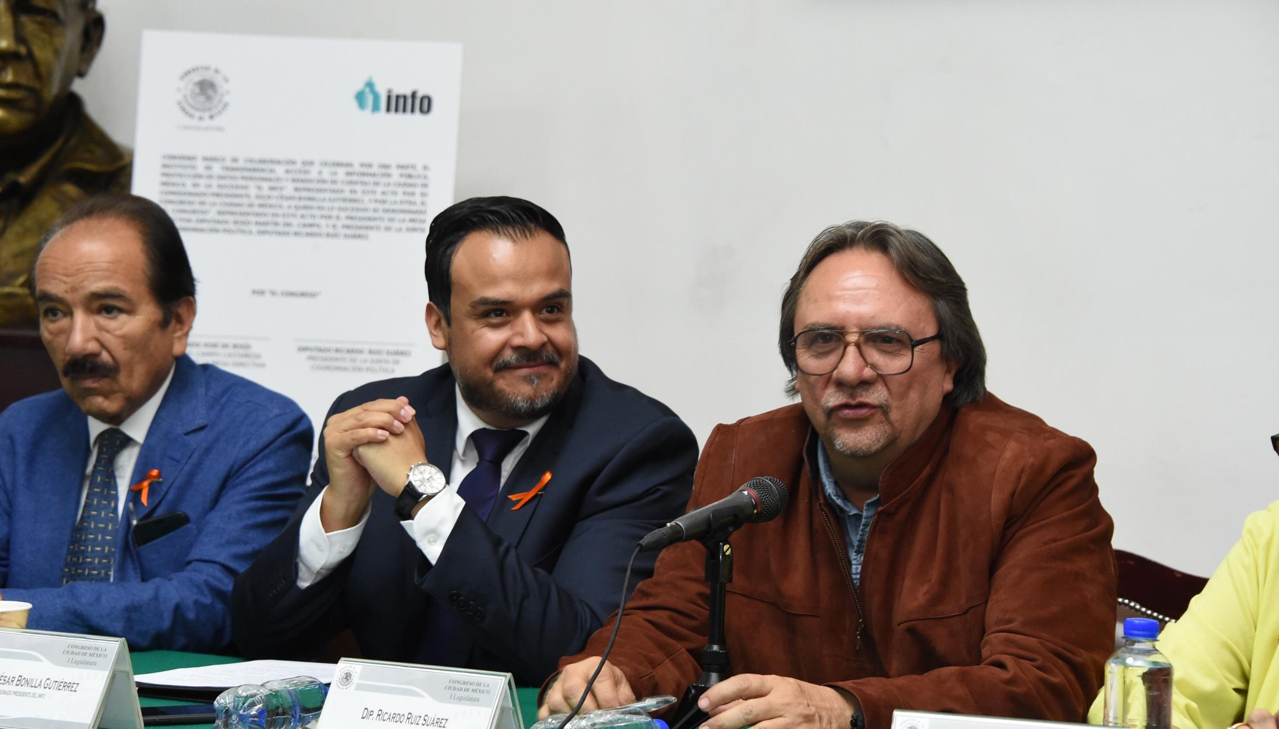 El Congreso local y el Info CDMX coordinarán estrategias conjuntas para fortalecer la cultura de la transparencia en la capital