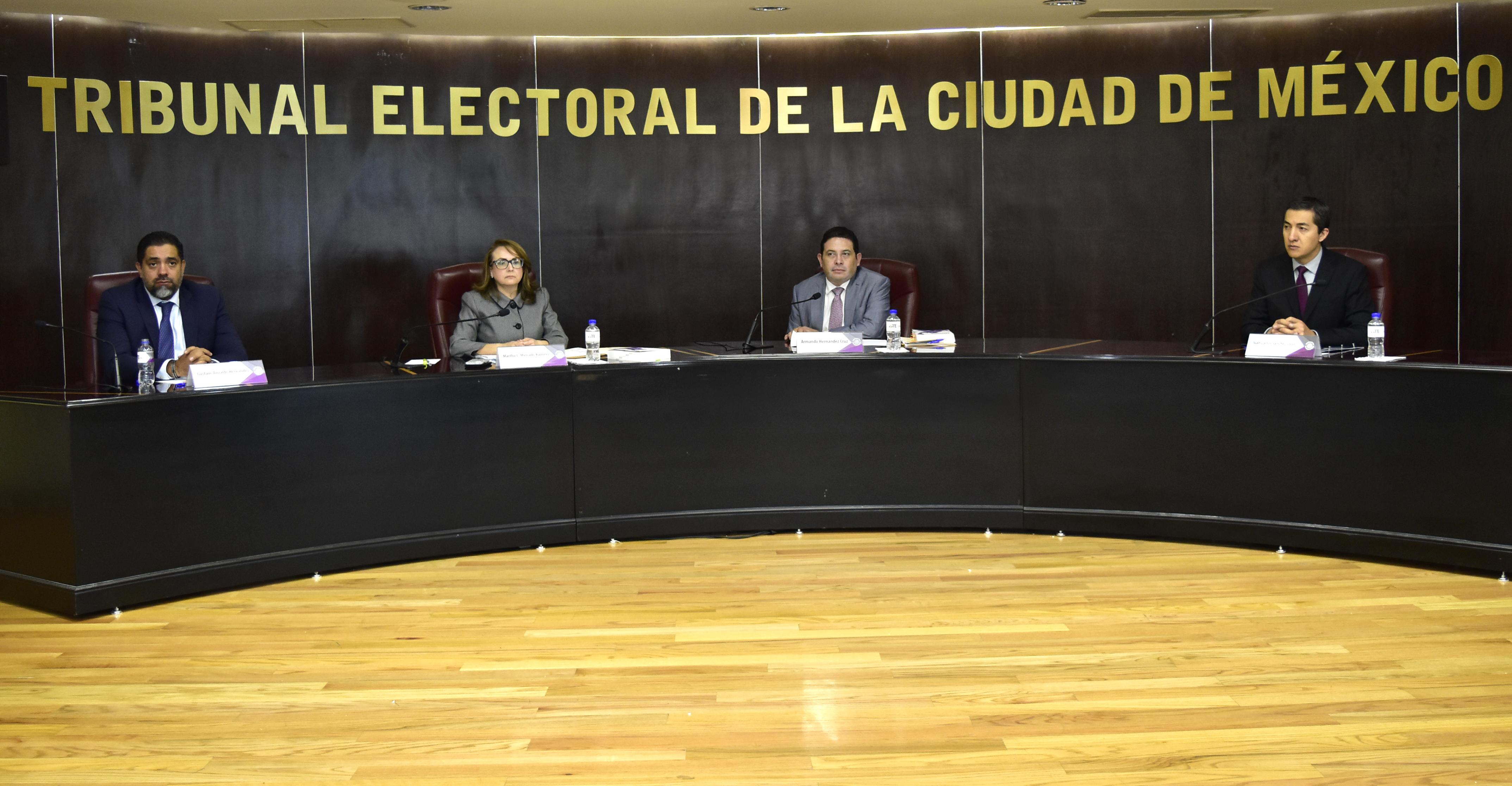 Recibe TECDMX a representantes de pueblos originarios y colonias de la demarcación Xochimilco