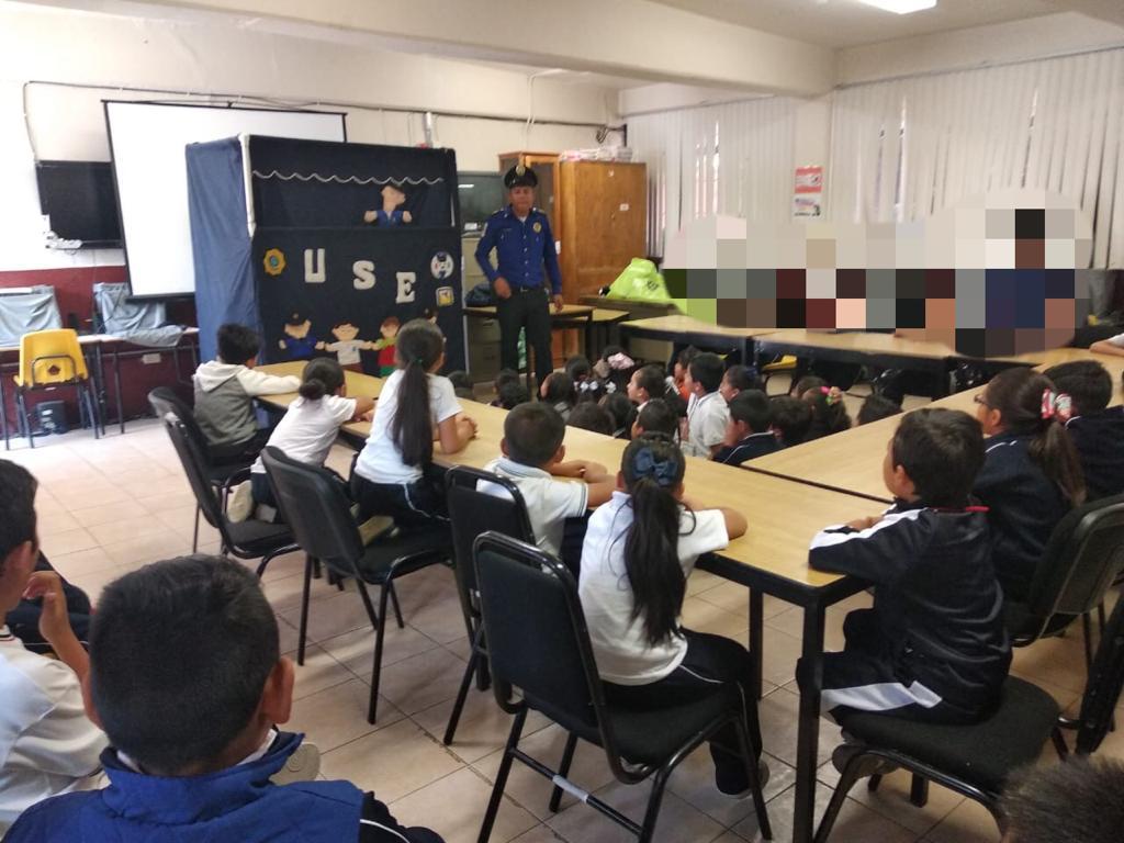 Policías de la SSC realizaron actividades recreativas en una escuela primaria de la Alcaldía Magdalena Contreras