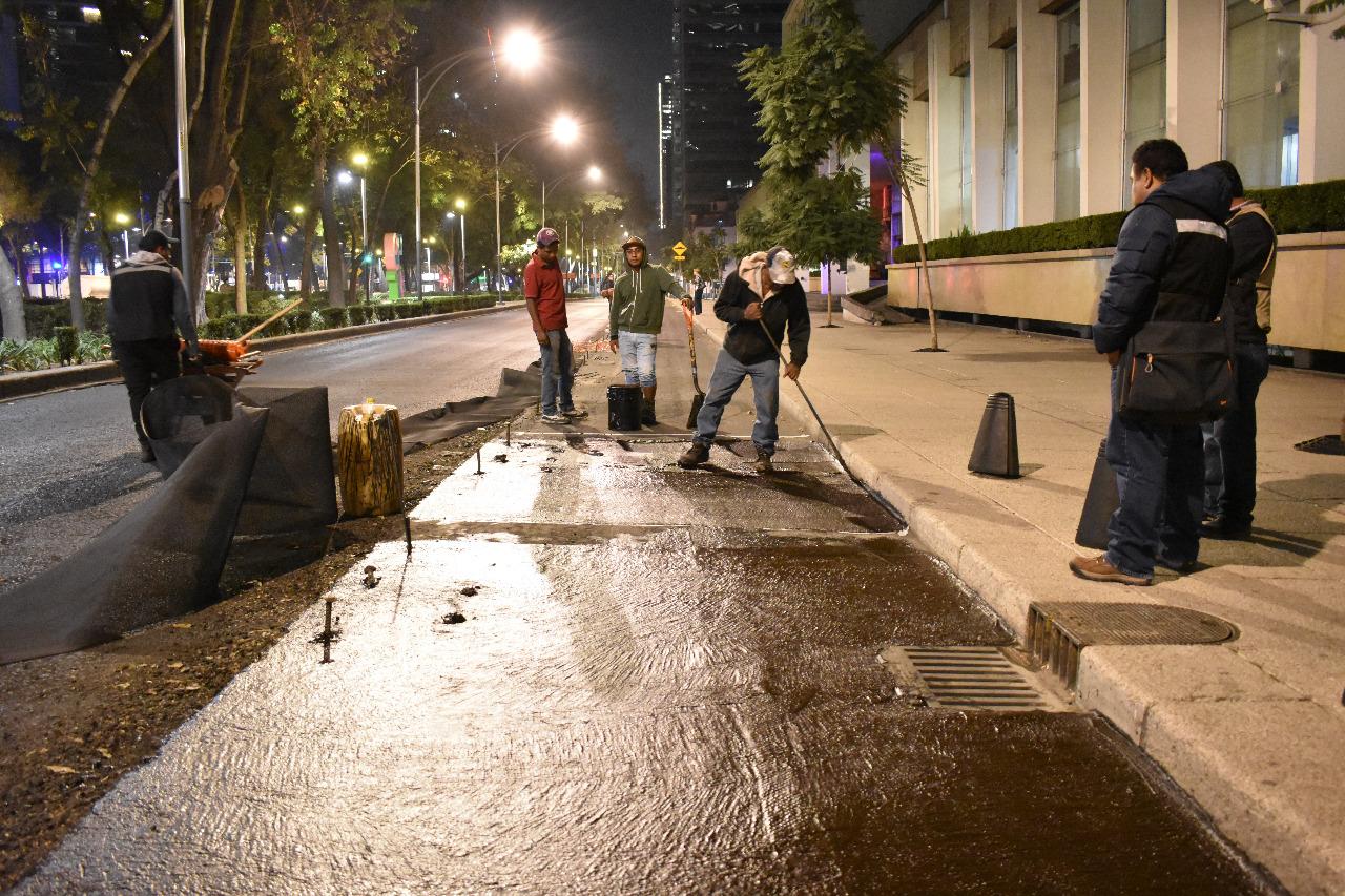 Con ahorro de 80 millones de pesos Gobierno de la Ciudad de México repavimenta vialidades primarias